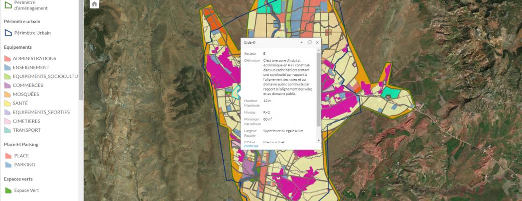 Lancement d'un Géoportail interactif de publication des documents d'urbanisme homologués (En période d'essai pour avis)